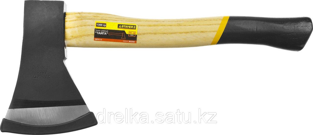 """Топор STAYER """"MASTER"""" кованый с деревянной рукояткой, 1,3кг"""