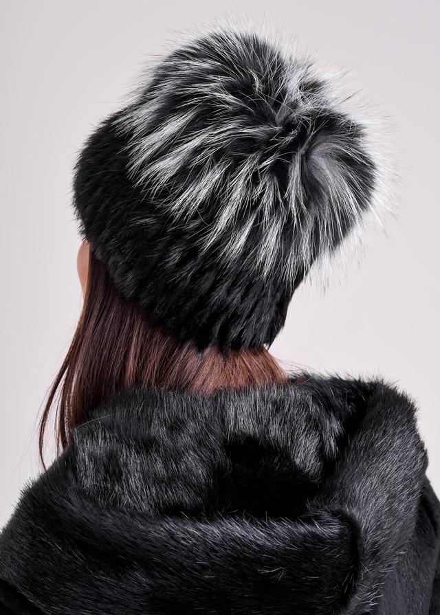 Меховая шапка с чернобурки Казахстан