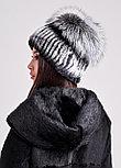 Женская шапка из натурального меха кролика РЕКС, фото 2