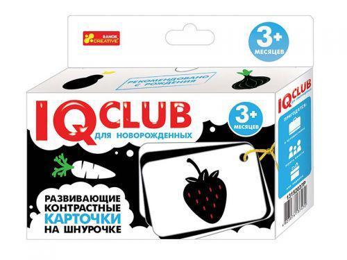 """Ranok 13152037Р """"IQ Club"""" Контрастные карточки на шнуровке Овощи и фрукты (для новорожденных)"""