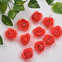 Розочки из фоамирана с сеточкой. Красные.3,5 мм. Creativ 296