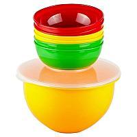 Набор посуды SOLARIS S1606: 6 мисок 0,6л в контейнере