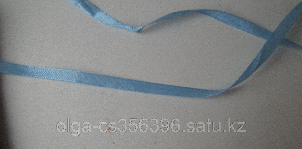 Атласная лента . Голубая. 10 мм. Creativ 2359