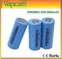 Аккумулятор 26650; INR26650-50A 3.7V 5000mAh (до 15А) Li-Ion