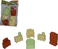 Набор мебели для кукол №1 (6 элементов в пакете), фото 1