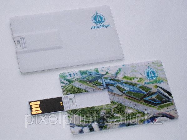 Подарочная USB флешка в виде карты с логотипом
