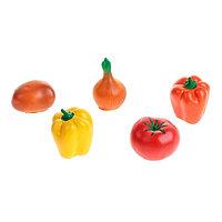 """Набор резиновых игрушек """"Овощи"""", МИКС"""