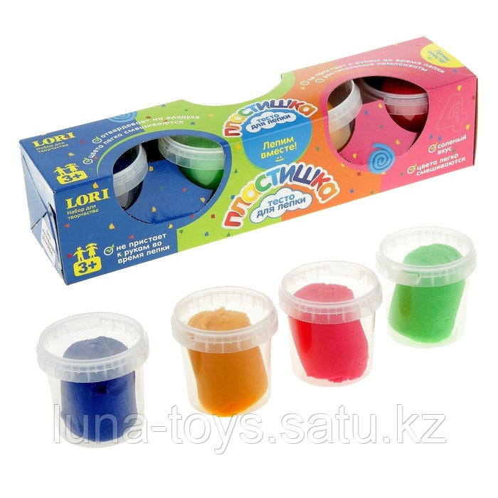 Набор теста для лепки №5, 4 цвета
