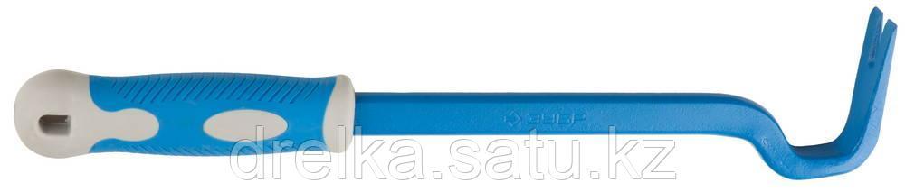 Гвоздодер с обрезиненной рукояткой, 430 мм, 22х12 мм, ЗУБР