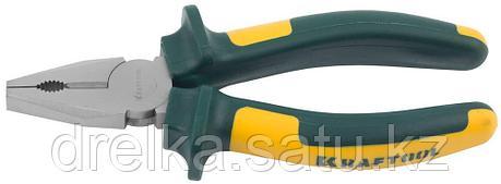"""Плоскогубцы KRAFTOOL""""KRAFT-MAX"""" комбинированные, Cr-Mo,маслобензост двухкомп рукоятки, фото 2"""