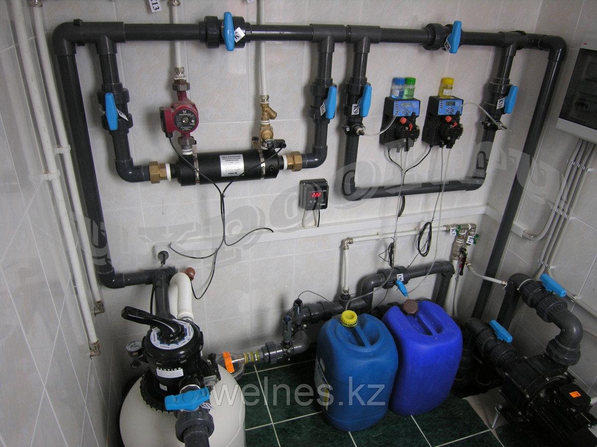 Установка оборудования для бассейнов.
