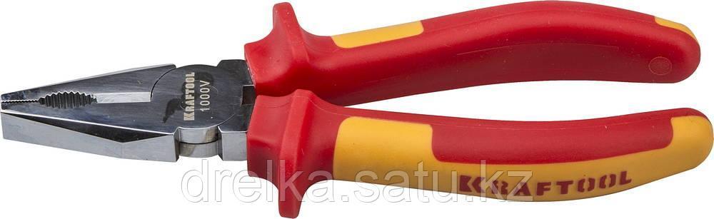 """Плоскогубцы """"ELECTRO-KRAFT"""", Cr-Mo сталь, двухкомпонентная маслобензостойкая рукоятка, хромированное покрытие"""