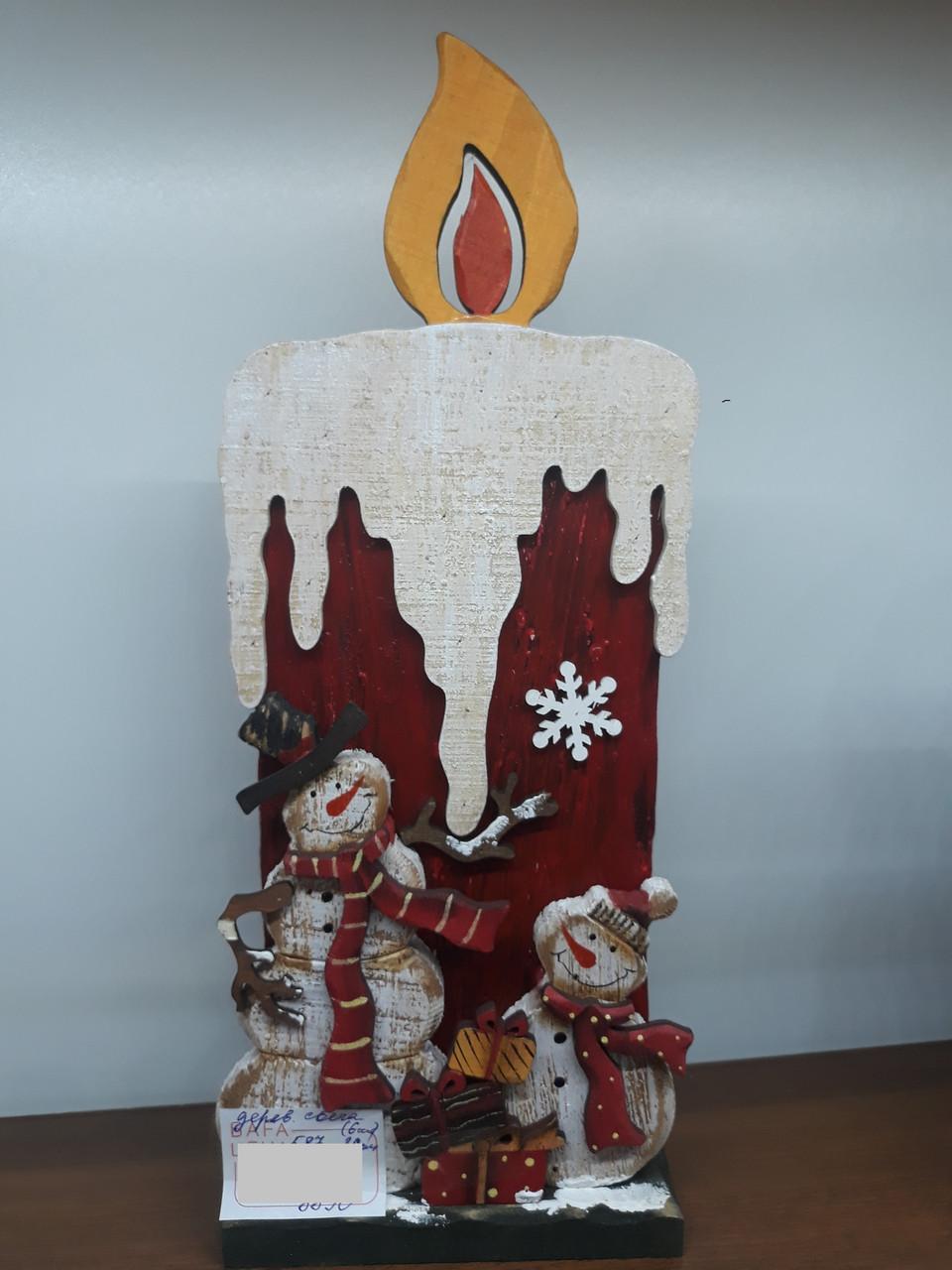 Деревянная свеча СНГ0038