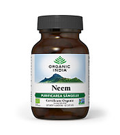 Neem (Ним) Organic India для очищения крови и кожи, 60 капсул