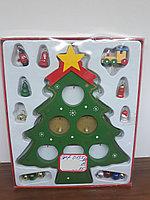 Деревянная ёлочка с игрушками СНГ0051