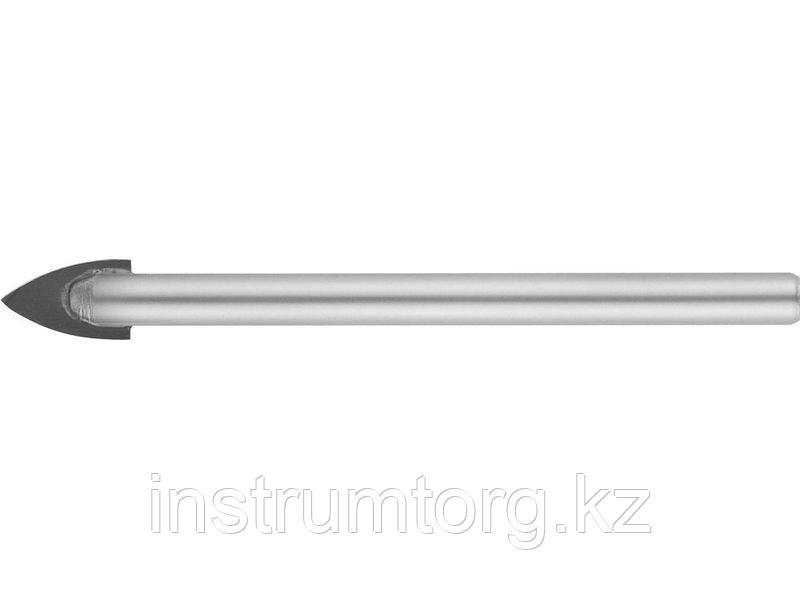 Сверло по кафелю, керамике, стеклу, с двумя режущими лезвиями, цилиндрический хвостовик, 8 мм, STAYER 2986-08