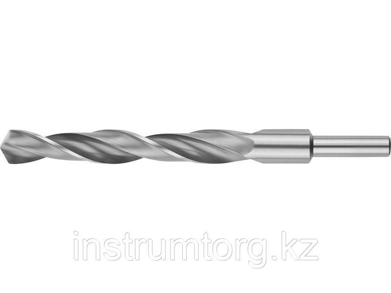 ЗУБР 16.0х178мм, Сверло по металлу, проточенный хвотосвик, сталь Р6М5, класс В