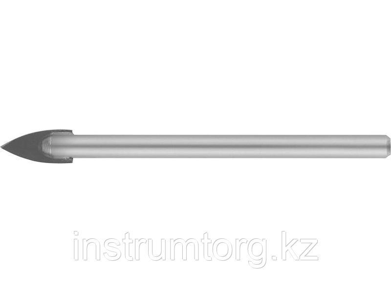 Сверло по кафелю, керамике, стеклу, с двумя режущими лезвиями, цилиндрический хвостовик, 6 мм, STAYER 2986-06