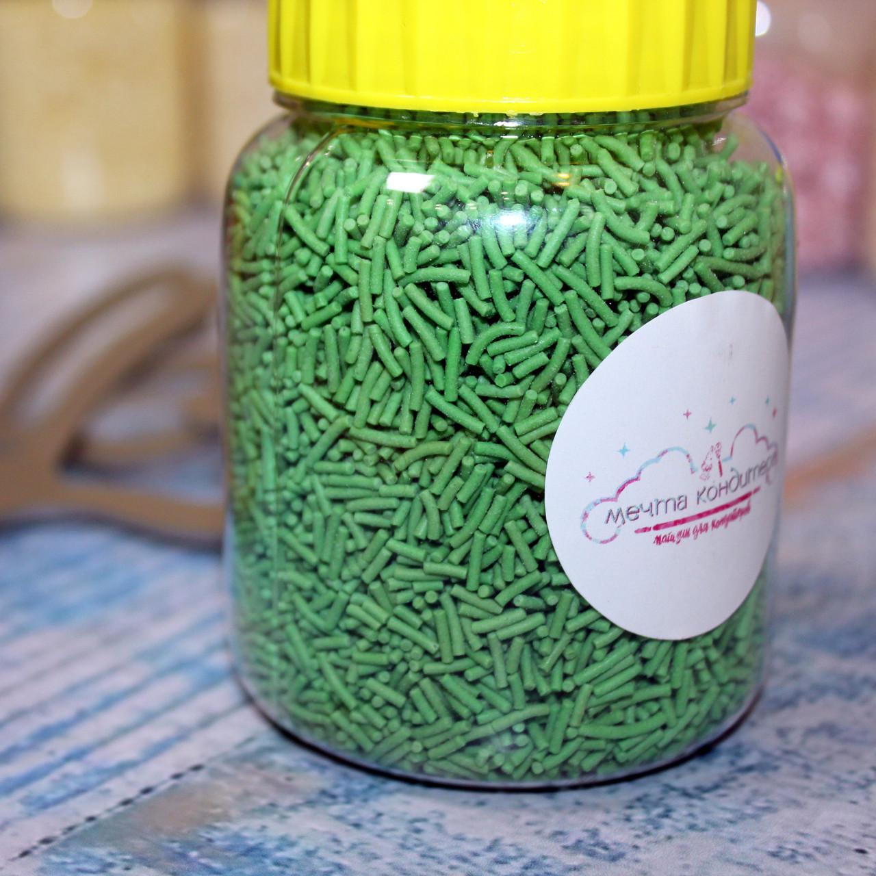 Посыпка вермишель зеленая