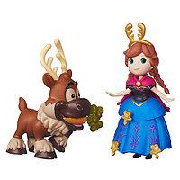 Игровой набор Hasbro Принцессы Дисней (Disney Princess) маленькие куклы Холодное сердце с другом в асс.