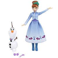 Игрушка Hasbro Принцессы Дисней (Disney Princess) кукла ХОЛОДНОЕ СЕРДЦЕ РОЖДЕСТВО С ОЛАФОМ Анна, фото 1