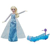 Игрушка Hasbro Принцессы Дисней (Disney Princess) кукла ХОЛОДНОЕ СЕРДЦЕ Эльза и санки