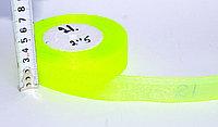 Декоративная лента из органзы полу-прозрачная, желтая, 3 см, фото 1