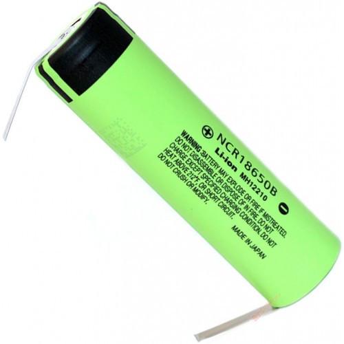 Li-Ion аккумулятор Panasonic NCR18650B 3400 mAh с лепестками (под пайку). Япония.