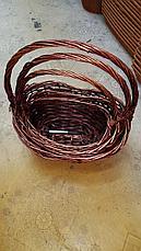 Корзина плетеная из ивовой лозы белый/коричневый, фото 3
