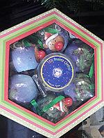 Набор светящихся елочных шаров на пульту