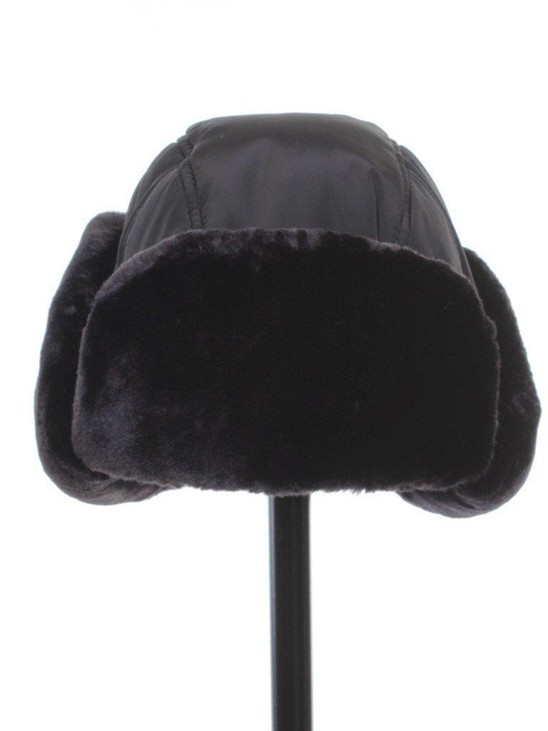 Шапка-ушанка черная