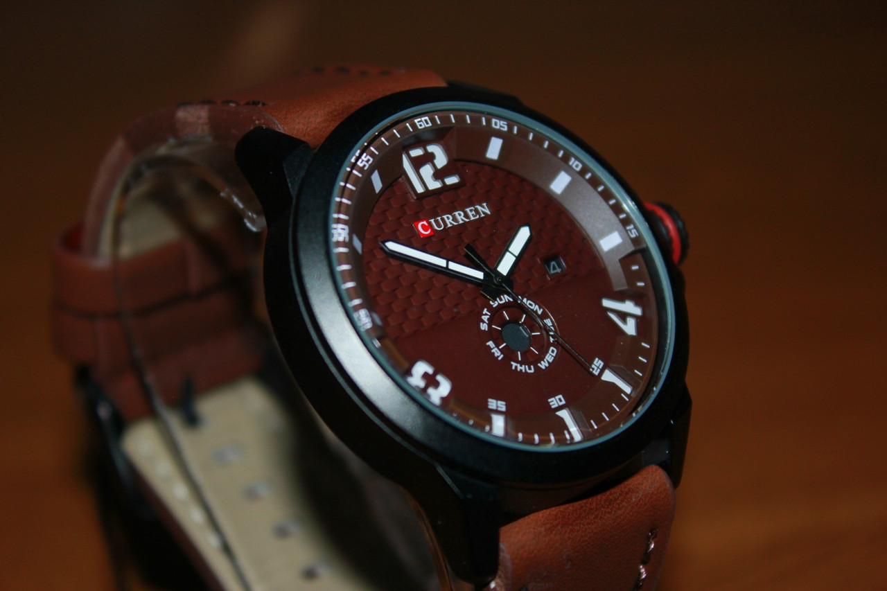 Кварцевые наручные Часы Curren 8253. Рассрочка. Kaspi RED.