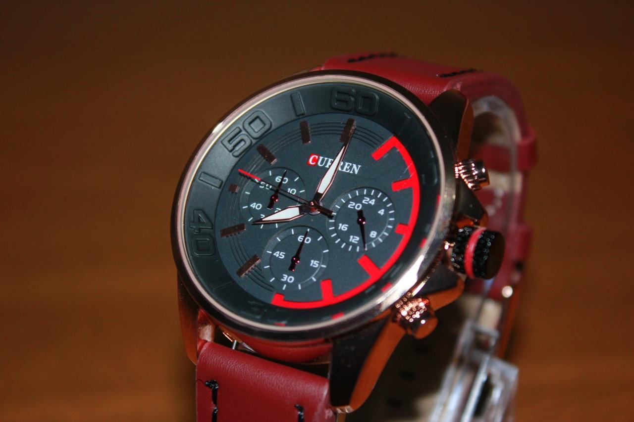 Наручные кварцевые Часы Curren 8187. Рассрочка. Kaspi RED.