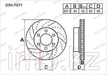 Тормозные диски Infiniti QX56. III пок. 2010-Н.В 5.6i V8 (Передние)