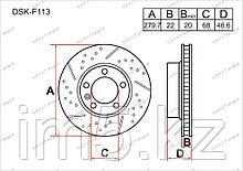 Тормозные диски Audi A4. B7 2004-2007 1.6FSi / 2.0TFSi (Передние)