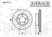 Тормозные диски Toyota Auris. E180 2012-Н.В 1.4D4-D (Передние)