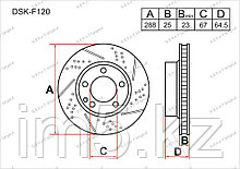 Тормозные диски Mercedes C-Класс. W204 2007-Н.В 1.8i / 2.0i (Передние)