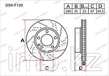 Тормозные диски Mercedes C-Класс. W204 2007-Н.В 2.5CDi (Передние)