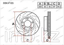 Тормозные диски Mercedes GL-Класс. X164 2006-2012 3.2CDi / 3.5CDi (Передние)