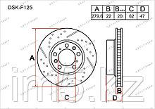 Тормозные диски Suzuki SX4. I пок. 2006-2013 1.5i / 1.6i / 2.0i (Передние)
