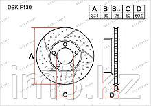 Тормозные диски Lexus GS350. S190 2005-2013 3.5i V6 (Передние)