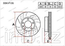 Тормозные диски Porsche Cayenne. 958 2011-Н.В 3.0i (Передние)