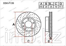 Тормозные диски BMW Series 7. E38 1994-2001 2.5TD / 3.0D (Передние)