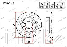 Тормозные диски BMW Series 5. E39 1995-2003 3.5i / 4.0i (Передние)
