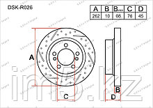 Тормозные диски Kia Cerato. II пок. 2008-2012 2.0i (Задние)