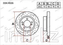 Тормозные диски Kia Cerato. III пок. 2012-2014 1.6i (Задние)