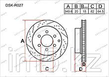 Тормозные диски Infiniti QX80. JA62 2013-Н.В 5.6i V8 (Задние)