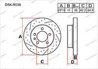 Тормозные диски Toyota Harrier. I пок. 1997-2003 2.2i (Задние)