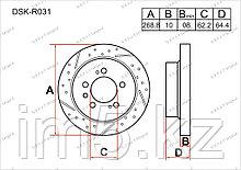 Тормозные диски Lexus ES330. XV30 2001-2006 3.3i V6 (Задние)