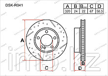 Тормозные диски Mercedes CL-Класс. W216 2006-Н.В 5.5i (Задние)